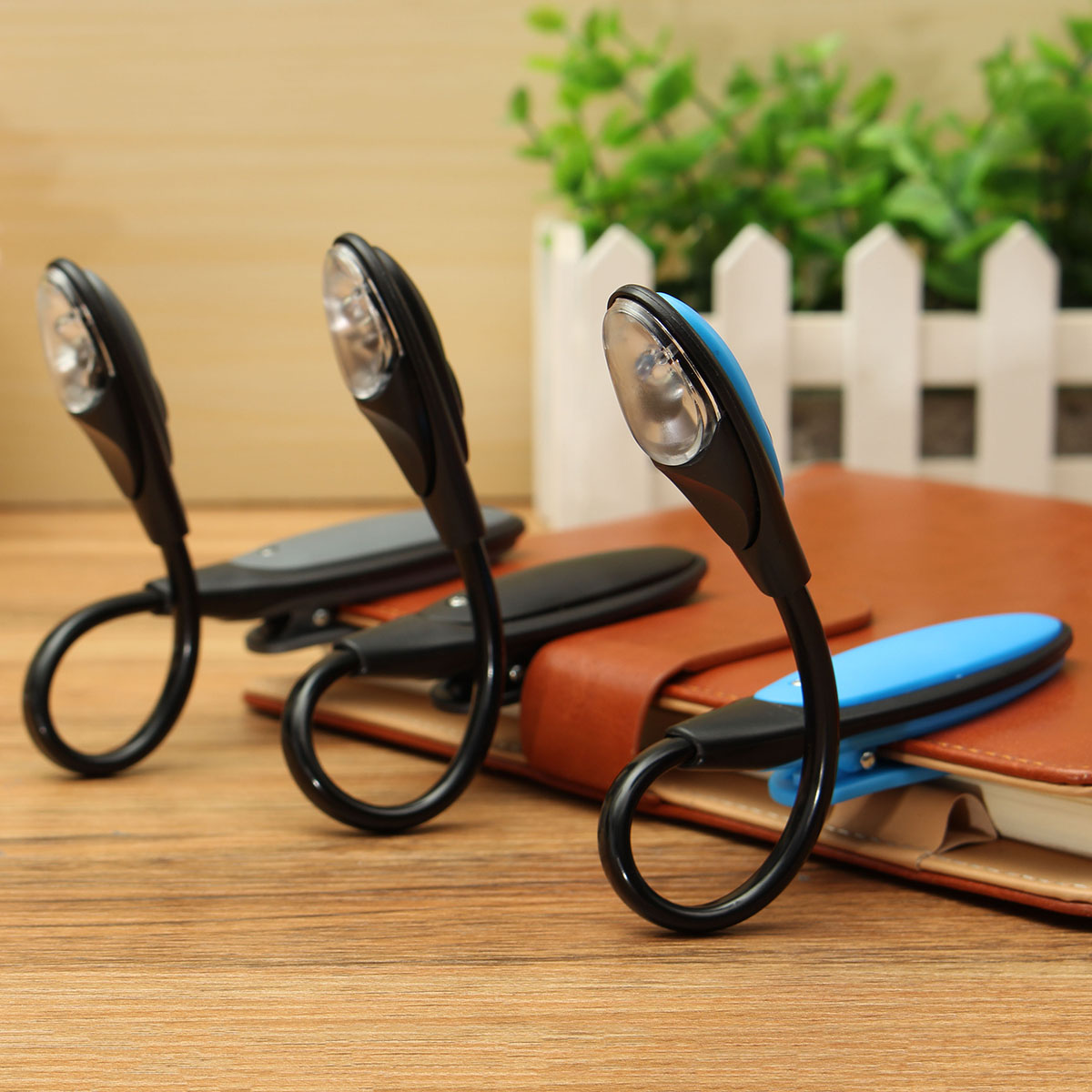 Mini LED Book Light Clip-On Flexible Bright Lamp Light Book Reading Lamp For Travel Bedroom Book E-Book Reader Gifts