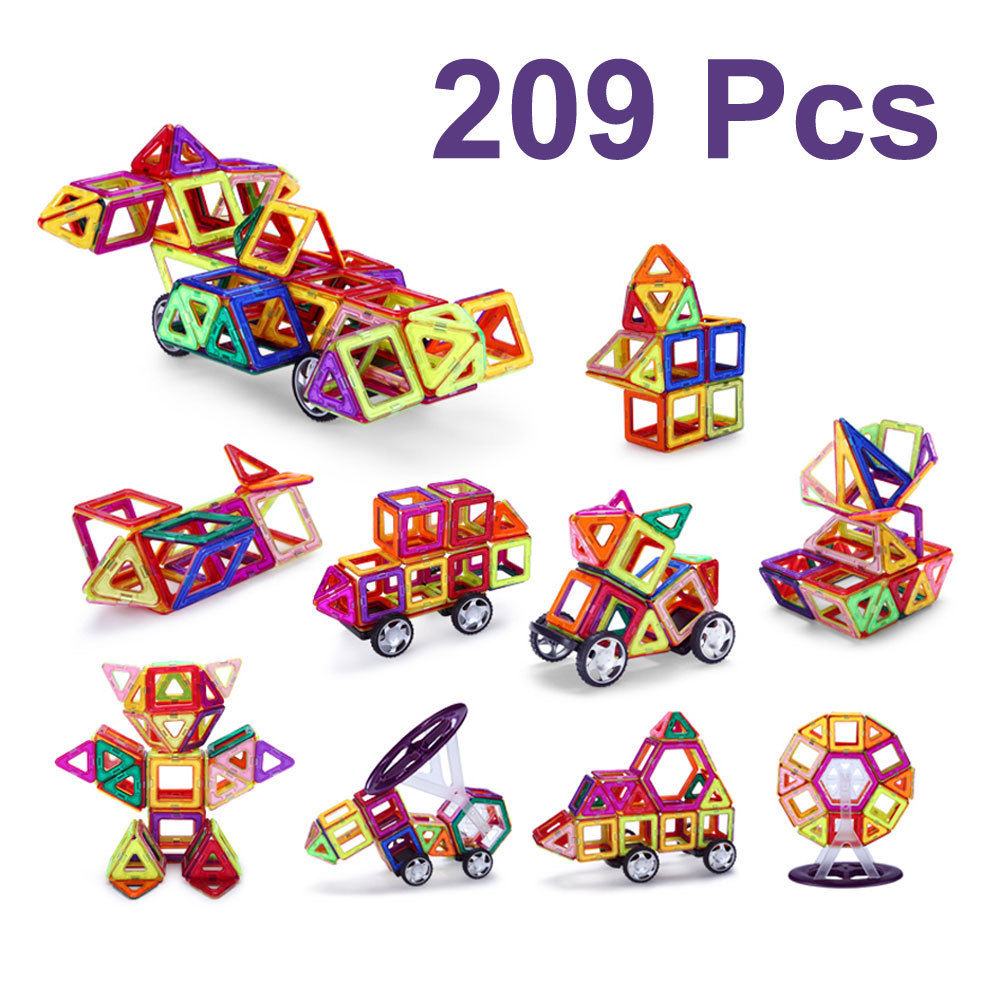 209PCS Set Magnetic Building Blocks Bricks Toys Models& Education Toys For Children Plastic Toys Blocks ideal amaze marbles 45 60 piece wooden building blocks learning education classic wood construction set gift toys for children