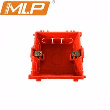 MLP Dark Box PVC Socket Box 88mm*85mm*53mm Mounting Box For 86mm*86mm Standard Switches and Sockets Apply For Walls Decoration