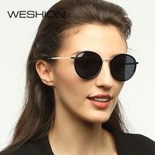 35a6cf0346e35 Rodada óculos de sol das mulheres polarizados marca designer espelho lentes retro  óculos de sol dos homens rosa polaroid sem aro.