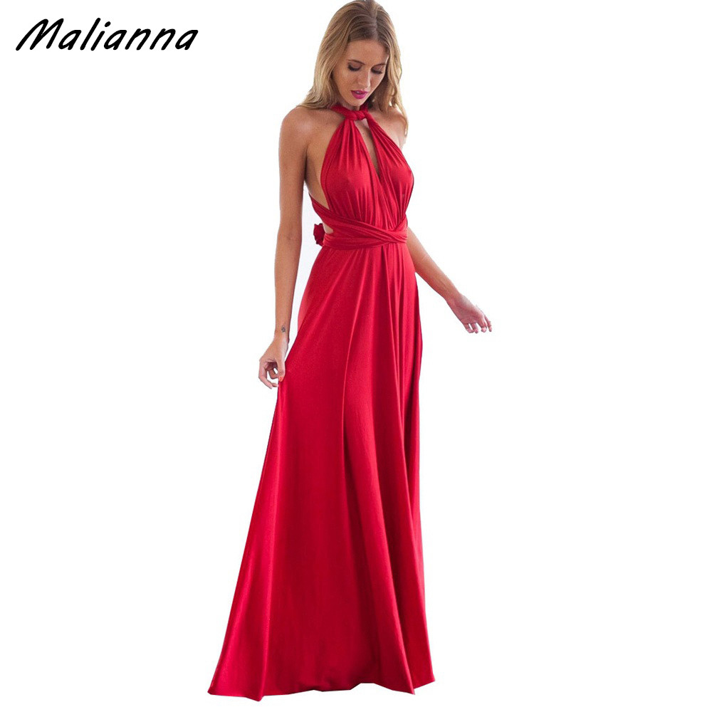 Online buy wholesale multi dress bridesmaid from china multi dress women convertible multi way wrap maxi dress backless sexy beach sundress bridesmaid party dresses bandage bodycon ombrellifo Images