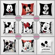 10 estilos 40*40cm unstuffed mickey mouse travesseiro minnie mouse fronha mickey e minnie crianças dos desenhos animados capa