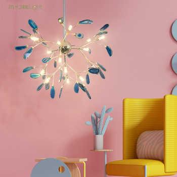 g4 led Nordic Iron Agate Designer Firefly LED Lamp LED Light Pendant Lights Pendant Lamp Pendant Light For Foyer Dinning Room