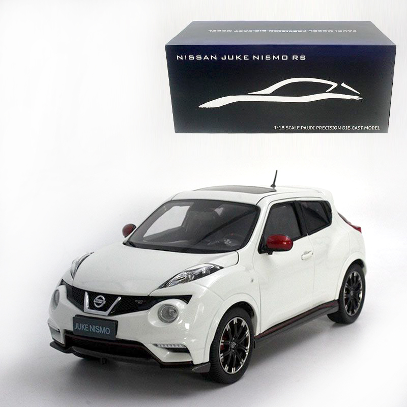 1:18 Diecast Model for Nissan Juke Nismo RS 2014 White Alloy Toy Car
