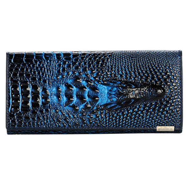 Hot Fashion Women Wallet Female 2016 Coin Purses Holders Genuine Leather 3D Embossing Alligator Ladies Crocodile Long Clutch W 2017 new ladies purses in europe and america long wallet female cards holders cartoon cat pu wallet coin purses girl