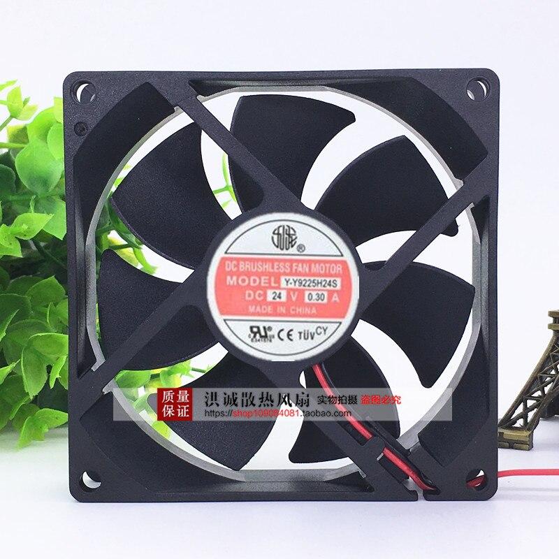 Новый 9025 24V 0.30A 9 см 2 линии большой объем воздуха инвертор вентилятор Кулеры/вентиляторы/системы охлаждения    АлиЭкспресс