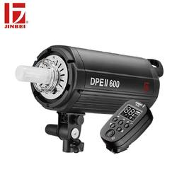 JINBEI DPE II-600 600W Studio Photo Flash Kit with TR-V6 Trigger GN80 LCD Display Built-in Wireless Bowens Mount Strobe