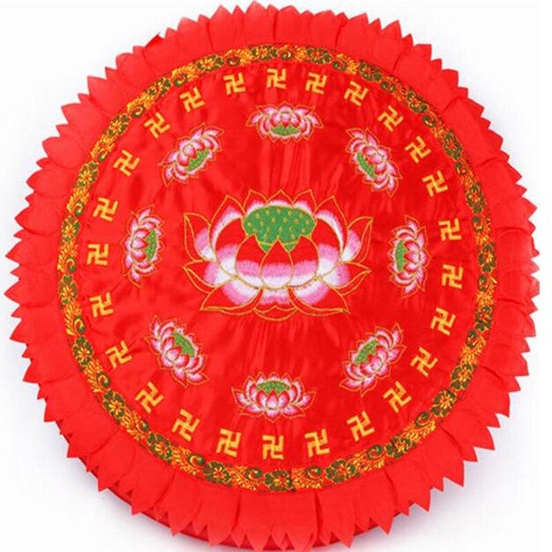 Fournitures bouddhistes à la main broderie Lotus coussin culte Budda pétrin coussin moine méditation tapis Kuhon Lotus Futon