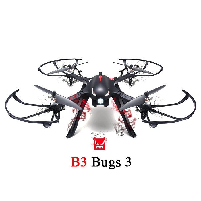 JJRC MJX B3 Bugs 3 Racing Drone 6 axis Gyro Fly System Quadcopter RTF Two way 2.4GHZ Remote Controller 1800KVBrushless Motor