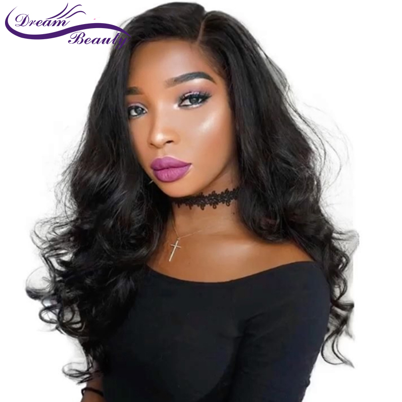 13x6 Deep Parting Body Wave Lace Front Wig Peruvian Remy Human Hair Wigs With Baby Hair Pre Placked Lace Wig Dream Beauty