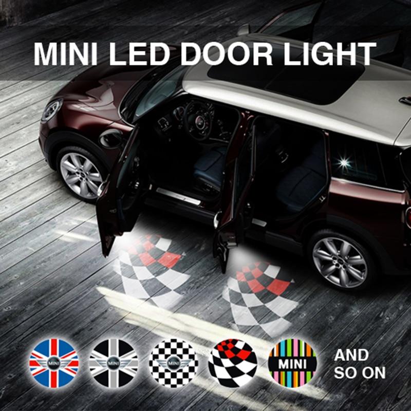 mini cooper door light laser light projection LED projector door shadow logo light welcome font b