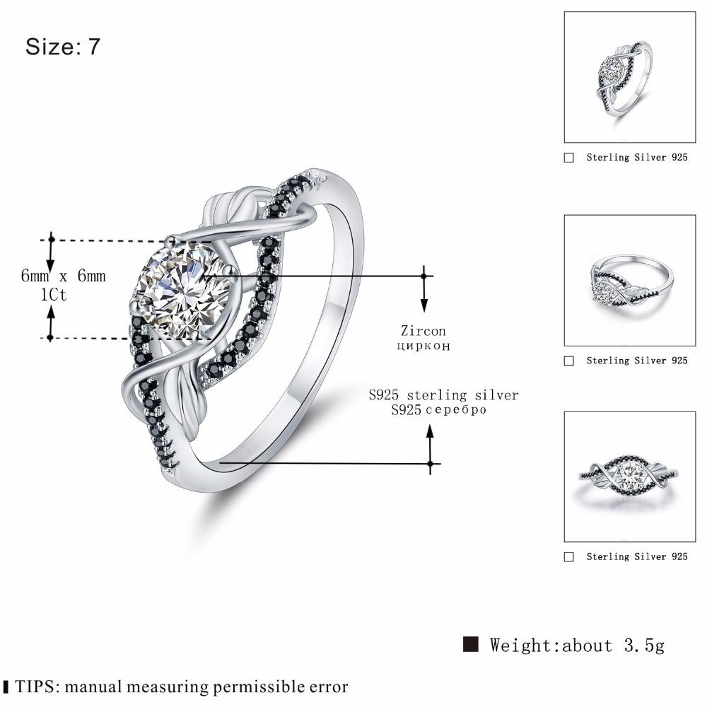 Trendy 3.5 Gram 100% Asli 925 Sterling Perhiasan Perak Hitam & Putih - Perhiasan bagus - Foto 4