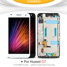 AAA Quality For Huawei G7 LCD Touch Screen with frame For Huawei G7-L03 G7-L01 Display Digitizer Assembly Replacement Parts купить недорого в Москве