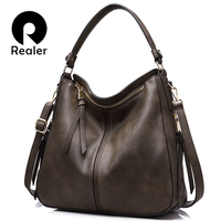 REALER Brand Handbag Women Shoulder Bag Female Casual Large Tote Bags High Quality Artificial Leather Ladies