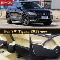 Car pads front rear door Seat Anti kick mat Car styling Accessories For VW Volkswagen Tiguan 2017 2018 2th generation