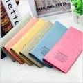 Mejores ventas de 6 ventas calientes del Color largo carpeta de moda Simple diseño de la muchacha del Color del caramelo Money Clips mujeres tarjeta Mini bolso H137
