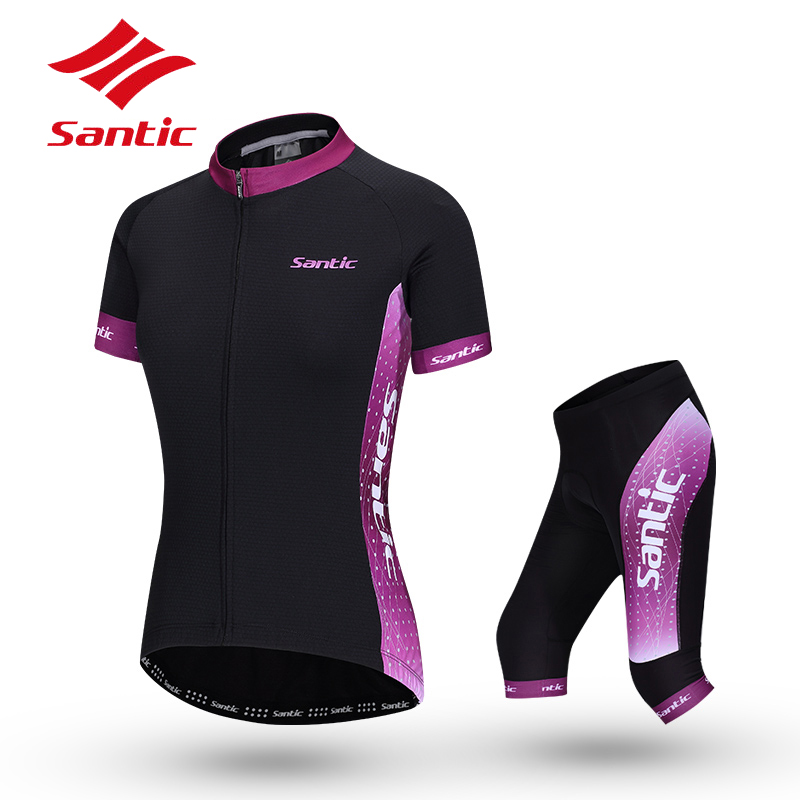 Santic  Cycling Jersey Summer Women Short Sleeve Quick Dry Racing Team Bicycle Jersey Breathable Bike Clothes Cycling Clothing veobike men long sleeves hooded waterproof windbreak sunscreen outdoor sport raincoat bike jersey bicycle cycling jacket