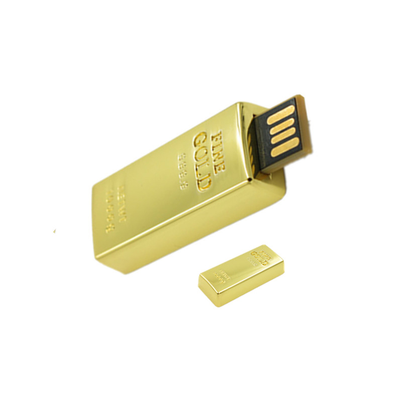 U disk 8GB 16GB 32GB 64GB Waterproof Super Bullion/Gold bar USB flash pen drive memory stick pen drive pendrive
