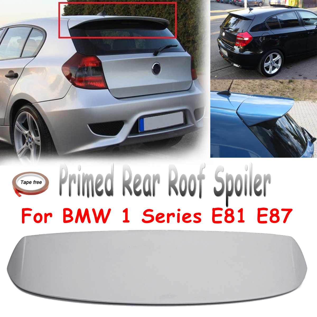 Spoiler Wing Fits for BMW 1 Series E81 E87 FRP Unpainted Primed Rear Trunk Roof Lip Trunk Spoiler Fiberglass Wing unpainted frp rear roof spoiler lip wing for audi q7 2006 2008 abt style
