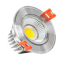 Free shipping 9W Dimmable Warm White/White/Cold White Silver/White shell COB LED Downlight Recessed Down Lamp AC85-265V