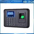 A5 Biométrico de impressões digitais Time Clock Recorder Comparecimento Do Empregado Digital Leitor Eletrônico Inglês Máquina