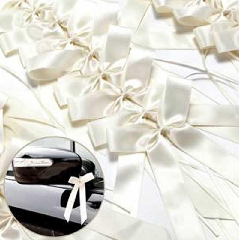 50 יח'\אריזה עדין חתונה ספסל סוף קישוט Bowknots סרט קשתות מסיבת מכוניות כיסאות קישוט Bowknots
