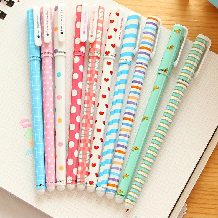 10 Pcs Korean Stationery Stationery Watercolor Pen Gel Pens Set Color Kandelia