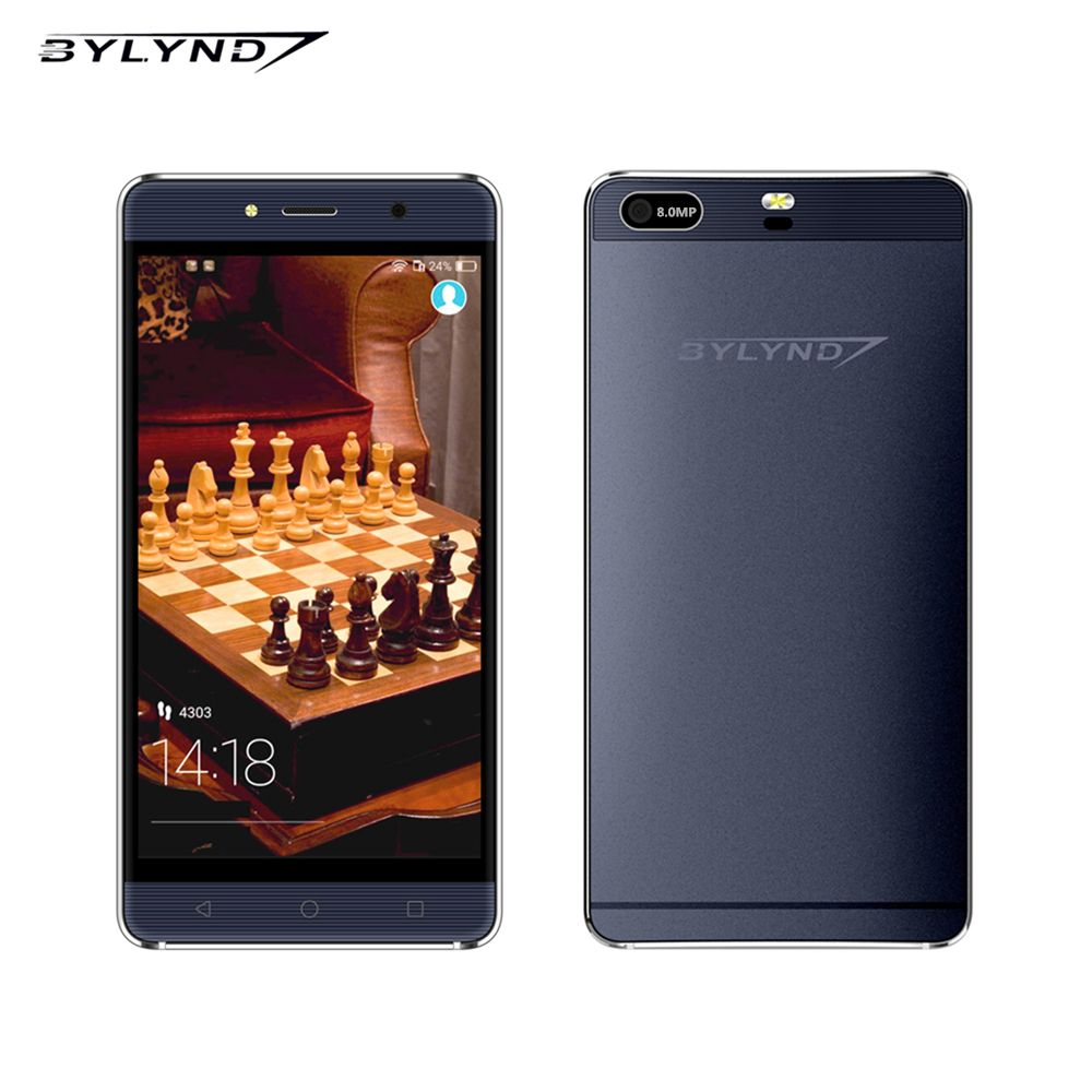 Original smartphones Bylynd M7 android 5.1 quad core 1G ram 8G ROM 8.0mp 5.0″ HD 1280×720 WCDMA unlocked mobile phone