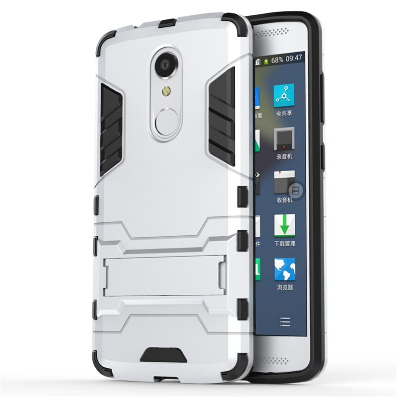 Coque For ZTE Axon7 Para Case For ZTE Axon 7 Mini TPU+PC With Stand Hard Plastic Dual Armor Back Cover Shell Fundas (<