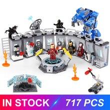Decool Compatible LGSET 76125 Marvel Avengers Endgame Iron Man Hall Building Blocks Bricks Figure Model Kids Toy Gift все цены