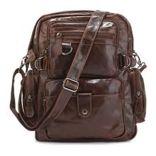 7042Q Cowboy Vintage Bookbag Schul Leder Bookbag männer Rucksäcke