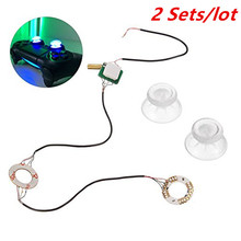 2 Sets For Playstation 4 Button Transparent Crystal Analog Thumb Sticks Stick DIY Led Light Fits for Sony PS4 Controller