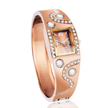 2016 New hot sell rose gold ladies Bangle Watch popular designer rhinestone watch Fashion women quartz watches relogio feminino