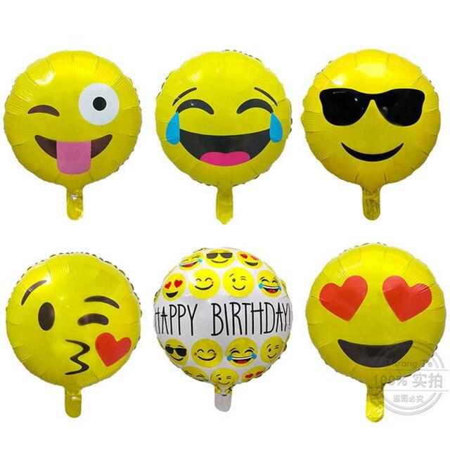 10 Stucke 18 Zoll Wechat Ausdruck Lachelndes Gesicht Ballons