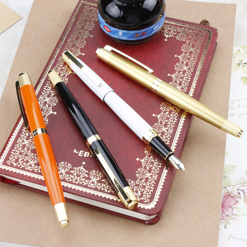 Fountain Pen Business Office Ink Metal Material 0.5mm Iridium Gold Students Calligraphy Fountain Pen High end Pen Gifts italic nib art fountain pen arabic calligraphy black pen line width 1 1mm to 3 0mm