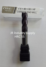1 pcs HRC 55  8*8D*60*4F  OSU carbide end mills