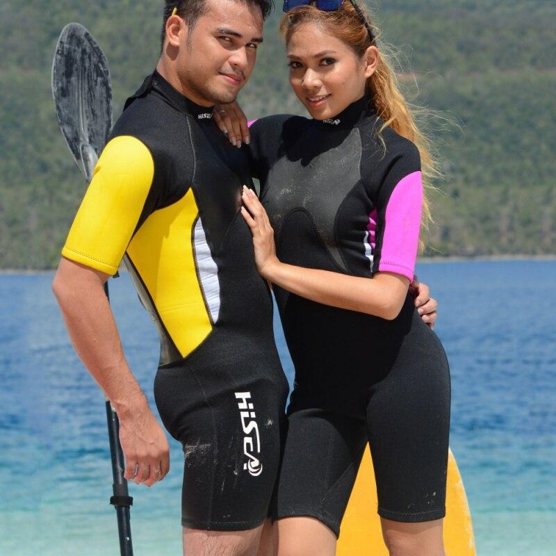 de57070e1918 3mm Men Women Wetsuit Short Sleeved Snorkeling Jumpsuit Full Body Lover  Dive Wet Suit One-