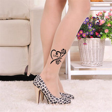 9e1dd558d VISNXGI Spring 2019 Hot New Fashion Sexy Tattoo Tights Stockings  Transparent Thin Ladies Girl and Women