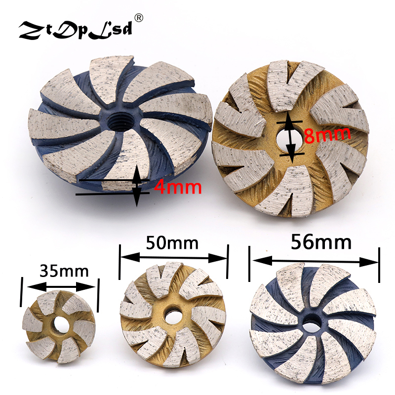 1PCS 35/50/60MM Diamond Dry Grinding Wheel Disc Bowl Shape Concrete Masonry Granite Marble Stone Angle Grinder Dedicated Tools
