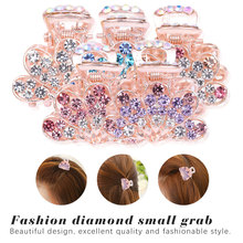 Hair Claw Head wear Chic Hair Ornaments Claw Crystal Metal Hair Claws Clip for women unique Girls Crab Accessories big bow toddler hair clips glitter pink covered metal alligator hair clip pink blue colorway children gift teeth claw head wear