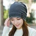 Chapéu feito malha inverno chapelaria outono e inverno mês de cap malha chapéu chapéu bolso pilhas de chapéu de lã marca feminino gorros quentes