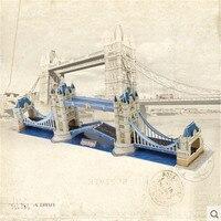 Cubicfun MC066h Architectonische Kenmerken Tower Bridge London Smaak Puzzel 3D Model Speelgoed Voor Kinderen 3D Puzzel Kerstcadeaus