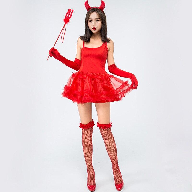 NOUVEAU PVC RED DEVIL Horn-Halloween Femmes Costume Déguisement Accessoire