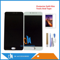 Cep telefonları ve Telekomünikasyon Ürünleri'ten Cep Telefonu LCD'leri'de 5.5 Inç Meizu M5 Not M621H M621Q M621M lcd ekran + dokunmatik ekranlı sayısallaştırıcı grup Siyah Beyaz Renk Kitleri Ile