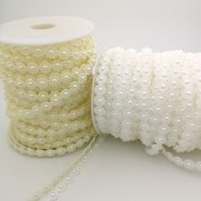 3Meters/lot  Fishing Line Artificial Pearls Beads Chain For DIY Garland Wedding Party Decoration Supplies Bride Flowers Accessor