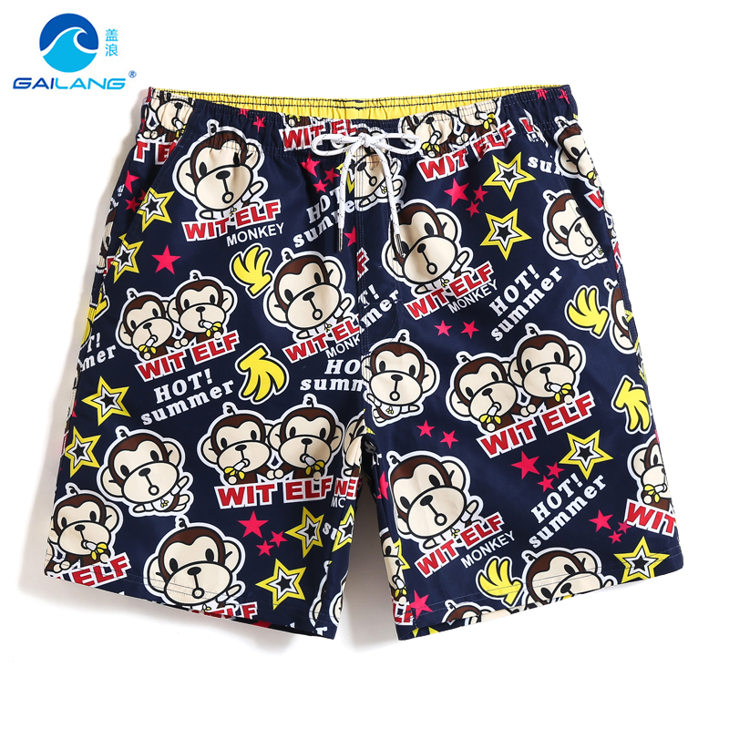 New Bathing suit Men's   Board     shorts   quick dry surfing liner hawaiian swimsuit briefs joggers swimwear beach   shorts   loosE