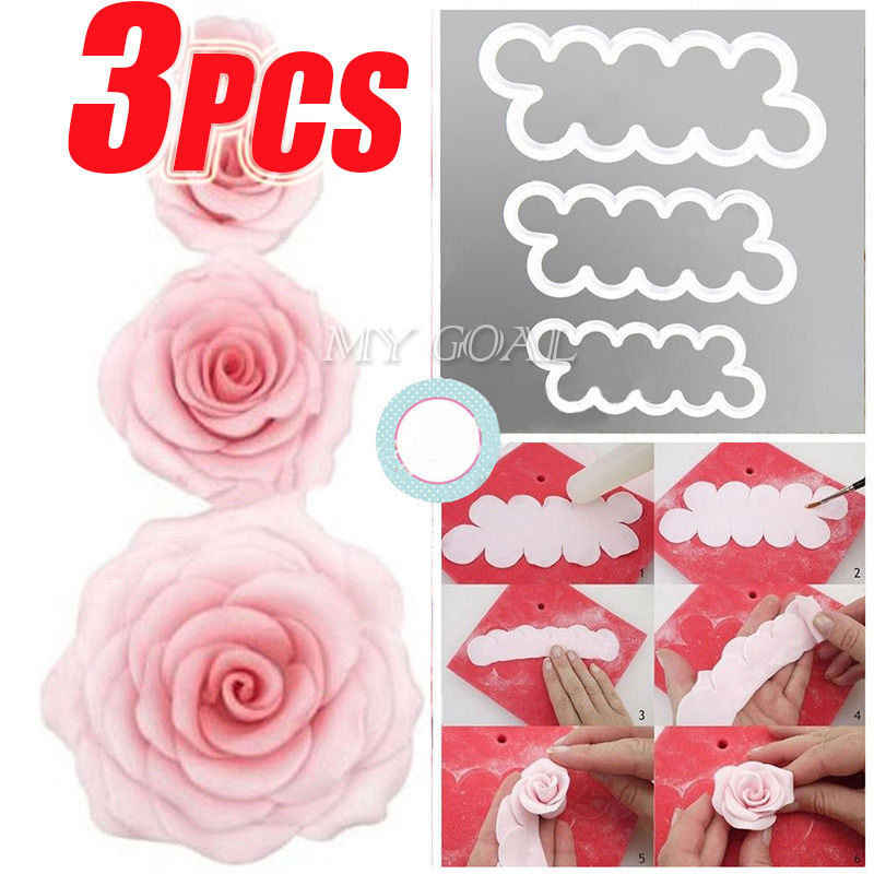 Easiest Rose Ever Fondant Icing Tool Decor Mould Sugarcraft Tools Bakeware Sets Cake Decorating Tools