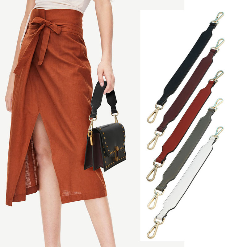 3.5cm Wide Shoulder Strap Fashion Female Bag Straps Belt For Handbag Handles Leather Short Strap DIY Accessories Parts KZ151373