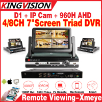 New AHDM DVR 4 8Channel CCTV AHD DVR Analog Hd Hybrid 7 LCD Display DVR 1080P