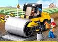 Sluban Carretilla Elevadora Rodillo Diy Juguetes Educativos Para Niños Bloques de Construcción de Plástico Iluminan Ladrillos Legoe Compatible Amigos Regalos